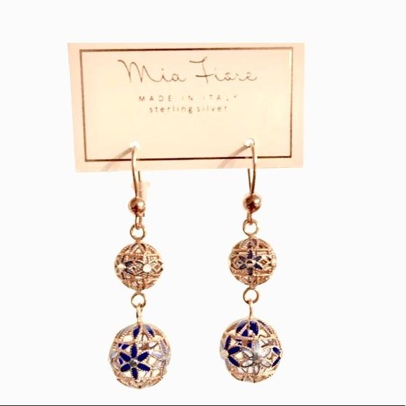 Mia Fiore Jewelry New Sterling Silver Rose Gold Earrings Poshmark
